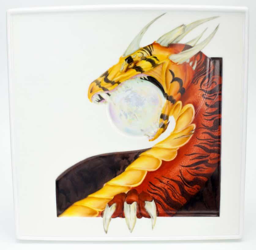 Dragone dipinto a terzo fuoco