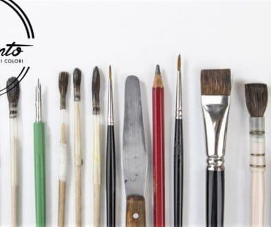 Gli strumenti per i nostri corsi di pittura su porcellana a Roma