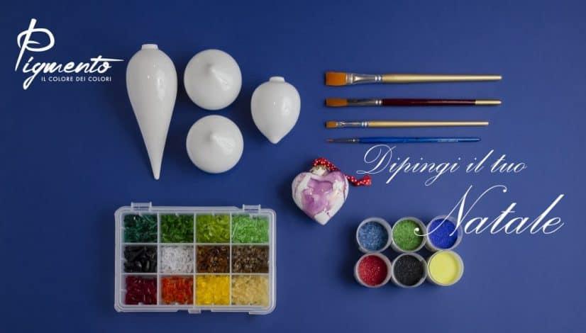 Seminario di pittura su porcellana per decorare addobbi natalizi su porcellana con i lustri
